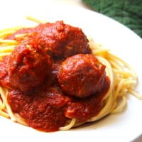 sausage meatballs in tomato & basil sauce.